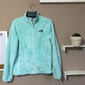 THE NORTH FACE OSITO Teal Fuzzy Full Zip Jacket